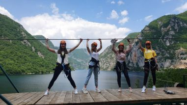 ZIP LINE OVER THE PIVA LAKE
