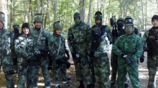 Paintball im Wasserfall-Rafting-Center!